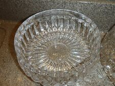 "Gorham 7.5"" Heavy Lead Crystal Glass Althea Round Fruit Serving Bowl wedding"