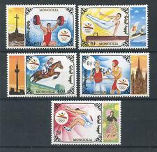 1992 - MONGOLIA - LOTTO/19732 - OLIMPIADI BARCELLONA 5v. - NUOVI