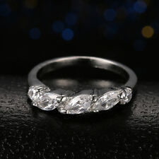 Elegant 18K White Gold Plated For Womens Engagement Solitaire Rings