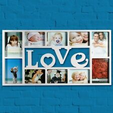 Extra Large White Love Heart Family Photo Frame Multi Picture Wall Hanging