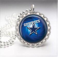 Dallas Cowboys Silver Bottle Cap Pendant Necklace