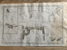 1784 CHART OF QUEEN CHARLOTTE'S ISLANDS BRITISH COLUMBIA ORIGINAL ANTIQUE MAP