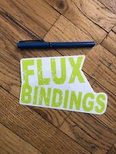 Flux Bindings Sticker, Snowboarding Sticker, Snowboard Binding Sticker, New FLUX