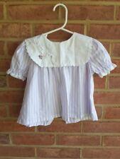 Vintage Evy of California Baby Dress Lavender USA made 12 - 18 mos