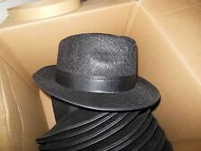 Lot of 3 Black Felt Large Permalux Fedora J Hats F20904 w/Hatband