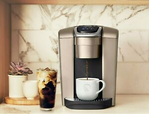 Keurig K-Elite Brushed Gold Single Serve K-Cup Pod Coffee Maker Brewer