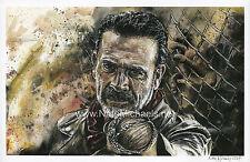 Jeffrey Dean Morgan / Negan - The Walking Dead - Poster / Art Print
