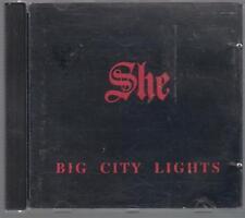 SHE BIG CITY LIGHTS 1990 UP MUSIC TOP RARE OOP CD ILLUSION LIPALI TSA LESSDRESS