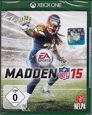 Madden NFL 15 - Xbox ONE -2015 American Football - Neu & OVP - Deutsche Version!