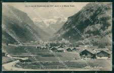 Aosta Gressoney Saint Jean Monte Rosa Genta cartolina VK0726