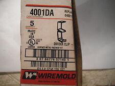 Wiremold 4001DA Divider Clips QTY = 5  - NEW
