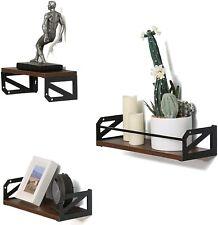 Set of 3 U Shape Floating Wall Shelves Storage Display Shelf Wood Home Décor