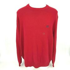 Chap/'s Mens Sweater Sz 3XB Big Man Red Holiday Quarter Zip Pullover New MSRP 96
