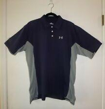 Under Armour Blue/Gray Golf Shirt-Sz Medium