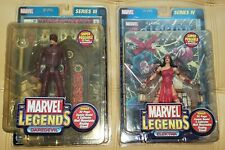 Marvel Legends Daredevil & Elektra Action Figures with Comic Book. A Great Duo!