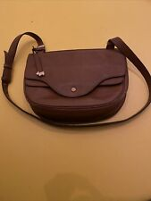 Ladies RADLEY Tan Brown Genuine Leather Handbag Shoulder Bag Crossbody Bag
