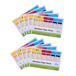 20x Dental Endo Absorbent Paper Points F1.F2.F3  100Points/pack