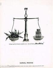 PUBLICITE ADVERTISING 055  1966  MARCEL ROCHAS   eau de toilette homme MOUSTACHE