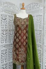 Rust  Churidaar Kameez Bollywood Indian suit Bollywood  UK 8 / EU 34 SKU15796