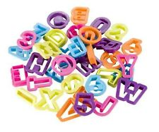 Alphabet and Numbers Cutters, 36 Pieces - Various Colours