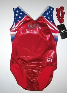 GK Elite US Team Leotard Olympics Hologram USA Mystique  New Limited Adult Women