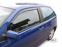 SEAT IBIZA mk4 3 door 2002-2008 Front wind deflectors 2pc set TINTED HEKO