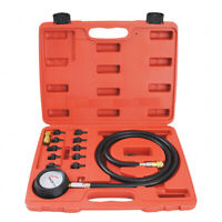 Auto Engine Oil Pressure Tester Low Oil Warning Devices Gauge Test Tool Kit