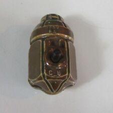 Antique/Vintage Brown Porcelain Light Switch hubbell Cutler GE Pendant 1911