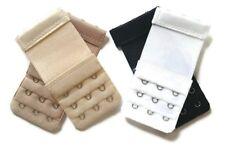 Set of 4 Narrow Bra Extenders 3 Hooks With Elastic Band Half Inch Spacing