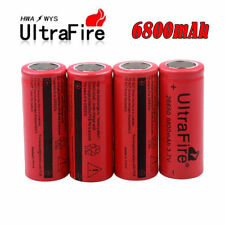 4x6800mAh Li-ion 3.7V 26650 Rechargeable Battery Cell For Led Flashlight Lamp US