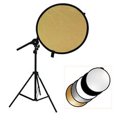 TARION Studio Photography Kit Bracket Arm + Light Stand + 5in1 80cm Reflector