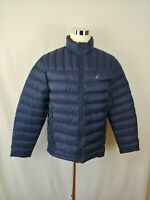 NWOT Nautica Hooded Down Puffer light weight Jacket Dark Navy Color Men's Size L
