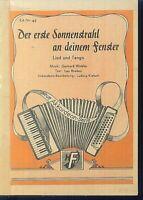 Gerhard Winkler : Der erste Sonnenatrahl an deinem Fenster - Lied und Tango
