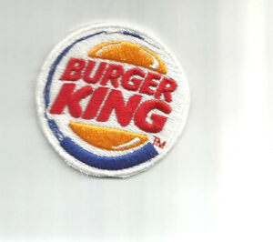 Burger king employee driver patch 2-3/8 in dia #3593