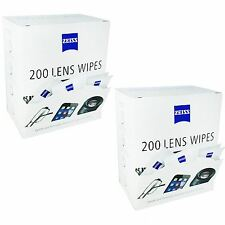 Zeiss 400 Lens Wipes Glasses Phone Tablet Screen Display Pre-moistened Cleaning