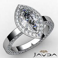 Beautiful Marquise Diamond Engagement GIA H VS2 Platinum Eternity Ring 2.5 ct
