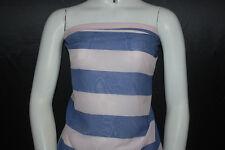 "Silk Cotton Voile Woven Fabric HighEnd Luxuriuos semisheer Wide stripes 2""-1/4"