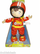 """New Noddy In Toyland Racer Noddy Doll -Vinyl Hands And Face! 11"""" Tall - 2011 Toy"""