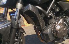 Para Yamaha YZF mt07 mt-07 rm04 carbon radiador revestimiento radiador