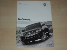 65385) VW Touareg - Preise & Extras - Prospekt 06/2003
