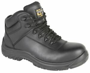 Mens Leather Safety Non Metal Fully Composite Lace Work Ankle Boots Shoes Size