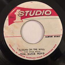 "Voice Roys / Viceroys - Slogan On The Wall / Dub - Studio 1 7"" 45T Rare Reggae ♫"