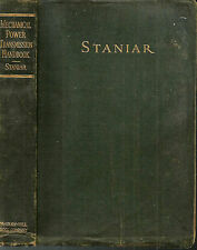 MECHANICAL POWER TRANSMISSION HANDBOOK by STANIAR 1936 1st Edition ILLUSTRATED