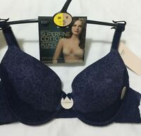 BNWT M&S VintageLace Collection Superfine Cotton Underwire Plunge Tshirt Bra 38B