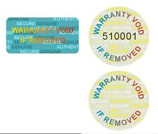 10000 CUSTOM PRINT hologram warranty security sticker label VOID