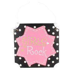 "Decorativo ""Niña Rock"" Pared / Puerta Placa"