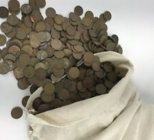 1000 Wheat Penny Cents Wholesale Lot , 1940-1958 PDS , 7 lbs US Copper Coins!