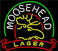 """New Moosehead Lager Beer Neon Light Sign 20""""x16"""""""