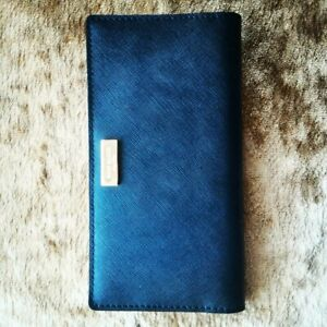 Kate Spade New York Saffiano Leather Envelope Wallet Laurel Way Black NWT