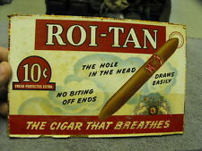 "Vintage Roi-Tan  "" The Hole In The Head"" The Cigar that Breathes"" Cigar Box Top"